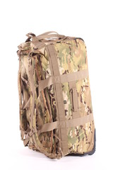 camouflage military backpack - isolated on white