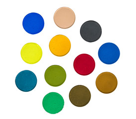 Various Isolated Paint Colors