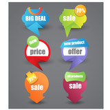 origami web sale,offer or discount banner for advertisement