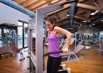 Woman training in a gym