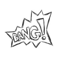 Vector Sketch Comics Word - Bang