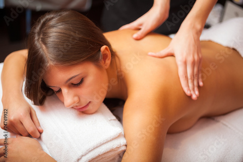 canvas print picture Woman having a massage