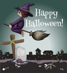 A happy halloween poster