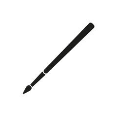 The brush icon.  Brush symbol. Flat. Vector