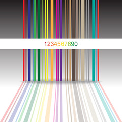Abstract colorful barcode background - illustration
