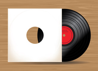 Vinyl record in vector - illustration
