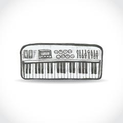 Music keyboard illustration