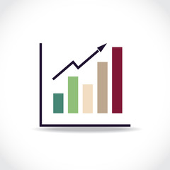 Graph, infographic element in a flat design