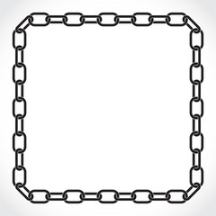 frame of the chain, silhouette illustration