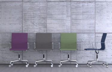 Farbige Stühle