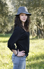 Italy, smiling female teenager portrait