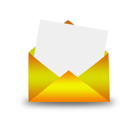 Gold Envelope with letter.