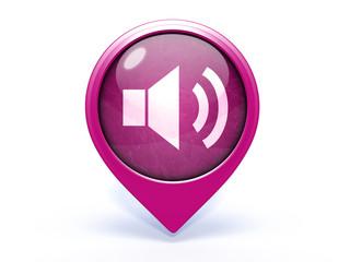 volume pointer icon on white background