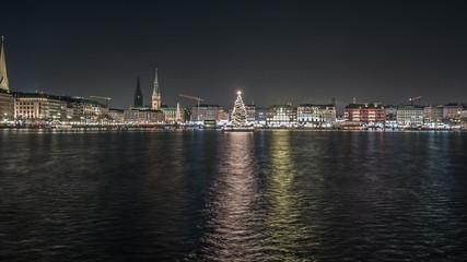 Christmas at Inner Alster in Hamburg