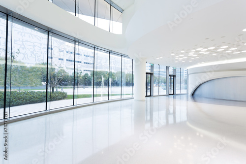 Papiers peints Batiment Urbain futuristic modern office building interior in urban city
