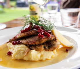 Swedish traditional delicacy also called strommingsflundra or he