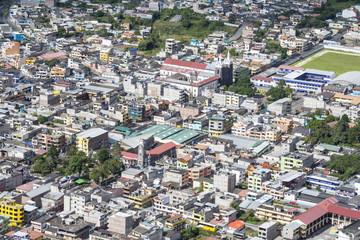 View the town of Banos in Ecuador