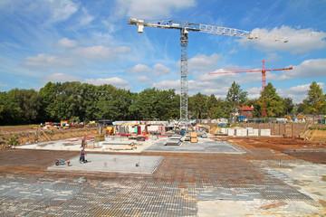 Betonfundament von Großbaustelle