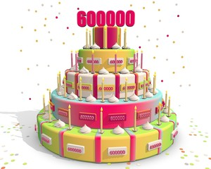 taart met cijfer 600000