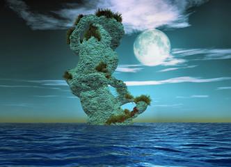 sculpture dans l ocean