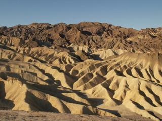 View of Death Valley ridges landscape