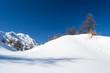 canvas print picture - Ski slope in the alpine arc