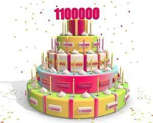 taart met cijfer 1100000