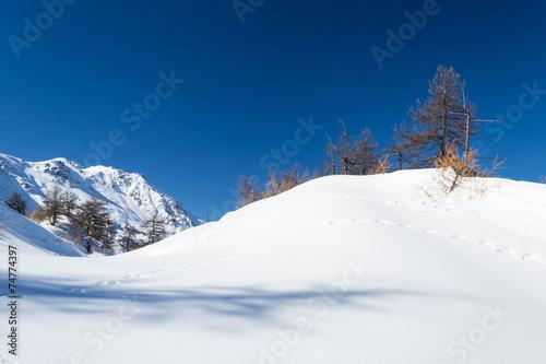 canvas print picture Ski slope in the alpine arc