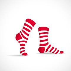 Stripped socks, illustration