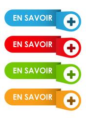 """Bouton Web """"EN SAVOIR +"""" (à propos lire plus d'informations)"""