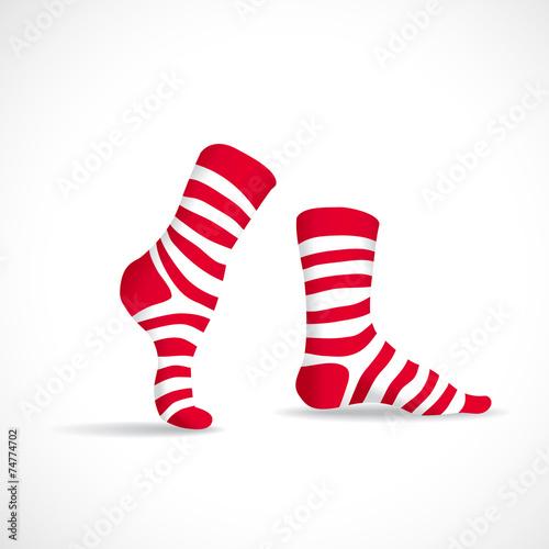 Stripped socks, illustration - 74774702