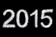 Leinwandbild Motiv New Year 2015, smoke style digits