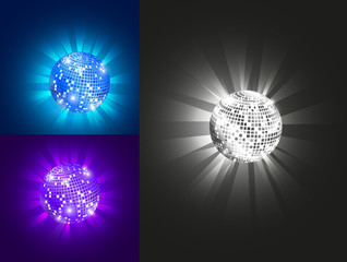 Disco ball, set, vector, eps 10