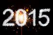 Leinwandbild Motiv New Year 2015, smoke style digits with sparkler