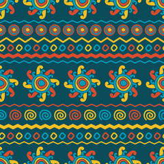 Abstract vector ethnic seamless pattern. Use for wallpaper, patt