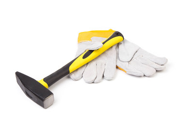 gloves and hammer