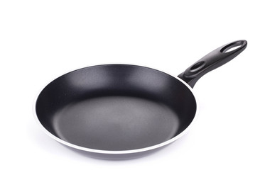 black frying pan.