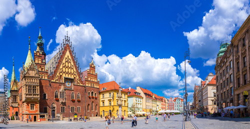 Tuinposter Centraal Europa City Hall in Wroclaw