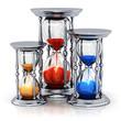 Vintage silver hourglasses