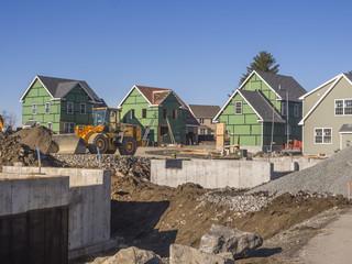 Single family house construction