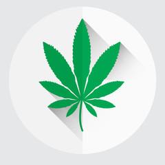 isolated green marijuana leaf symbol eps10