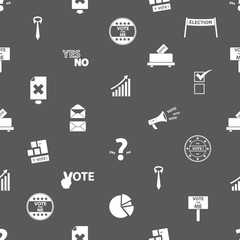 election simple icons seamless gray pattern eps10