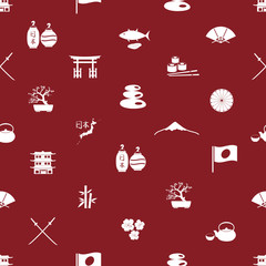 Japanese icons seamless pattern eps10