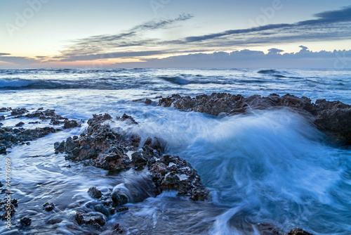 Denia Alicante Las rotas rocky beach in Spain Poster