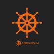 Orange helm as logo on black - 74777122