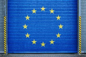 Europa verzinktes Stahltor (europe roll-up door)