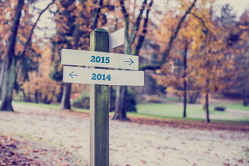 Opposite directions towards year 2014 and 2015