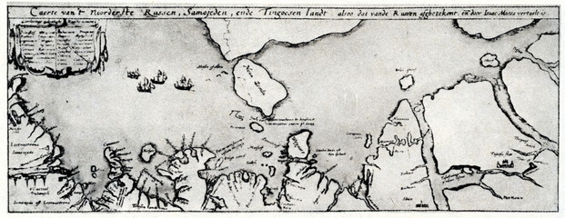 Map of the northest Russia by Isaac Massa, 1612
