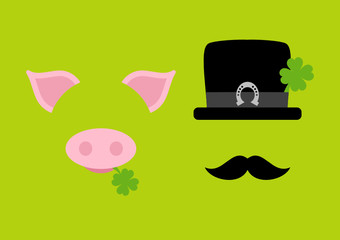 Abstract Pig & Chimney Sweeper Horseshoe Green
