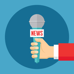 News vector illustration in flat style. Journalism concept.